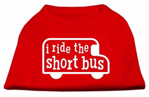- I ride the short bus Screen Print Shirt Red XXXL(20)