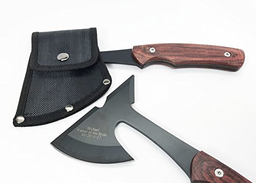 Set of 5 Personalized Engraved Rescue Axes, Hatchets-Groomsmen, Groomsman gifts –Custom Axes for Men, for him -Camping gifts, Sportsman gifts, Free Engraving . by e-tradeusa