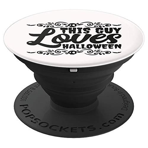 This Guy Loves Halloween Scary Costume Ironic Funny Gift PopSockets Grip and Stand for Phones and Tablets