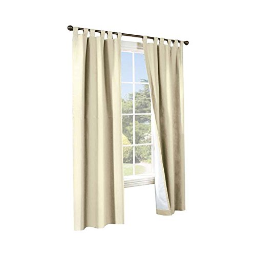 (Commonwealth Home Fashions 70292-153-103-54 Thermalogic Insulated Solid Color Tab Top Curtain Pairs 54 in., Natural)