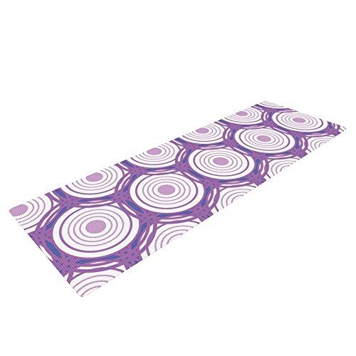 KessインハウスLouise「Labyrinth」ヨガ練習マット、パープル、72 x 24インチ   B00T7GP7C4