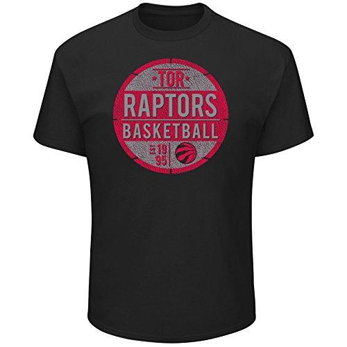 NBA Toronto Raptors Short Sleeve Screen Tee, Black, 2X/Tall