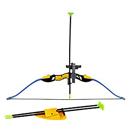 Perpetual Bliss Archery Bow and Arrow Set for Kids with 3 Arrow Strong String Thread Sport (Dimension)cm:25x5x76