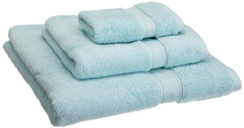Superior 900 GSM Luxury Bathroom 3-Piece Towel Set, Made Long-Staple Combed Cotton, Hotel & Spa Quality Washcloth, Hand Towel, and Bath Towel - Sea Foam