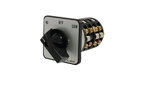 Amazon.com: DealMux HI-OFF-LOW Posição Rotary Selector Mudar sobre o interruptor: Electronics