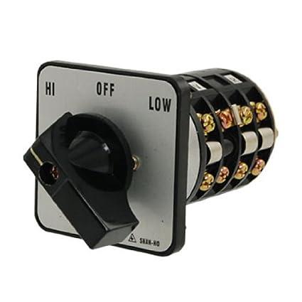 DealMux HI-OFF-LOW Posição Rotary Selector Mudar sobre o interruptor