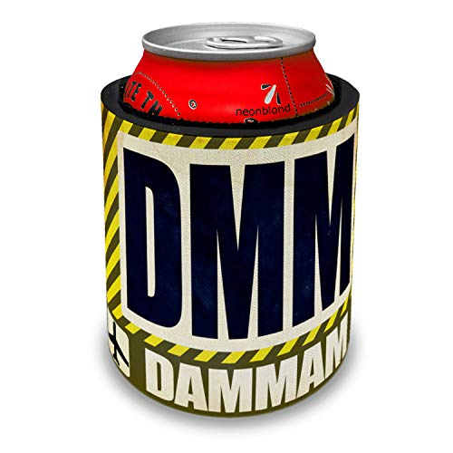 NEONBLOND Airportcode DMM Dammam Slap Can Cooler Insulator Sleeve