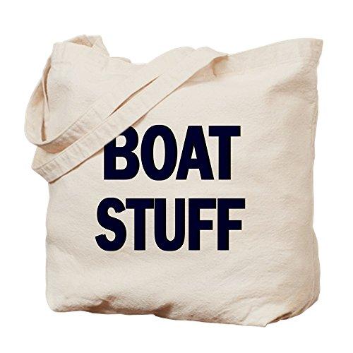 Custom Boat Bag - CafePress BOAT STUFF Natural Canvas Tote Bag, Cloth Shopping Bag