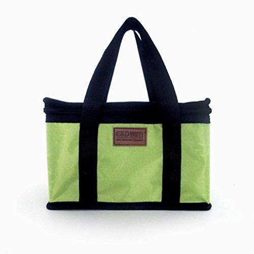 Feixiang & # x2648; exclusivo personalización Simple estilo portátil con aislamiento térmico almuerzo Carry Tote bolsa de almacenamiento de viaje Picnic large azul marino Verde