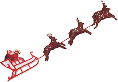 Oasis Supply Santa on Sleigh with Reindeer Christmas Cake Decoration - Jolly Miniature Old Santa