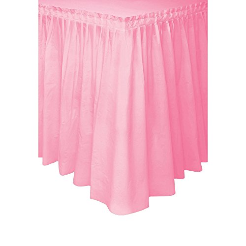 [Light Pink Plastic Table Skirt, 29