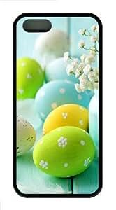 Easter Day Eggs Custom iPhone 5s/5 Case Cover ¡§C TPU ¡§C Black