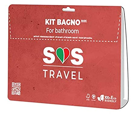 KITONE Eco-Bio - Kit De Baño Compuesto De Toalla Y Toalla De Ducha Desechables En No Tejido 100% Ecofriendly Reutilizable Absorbente Y Resistente Cm 40 x ...