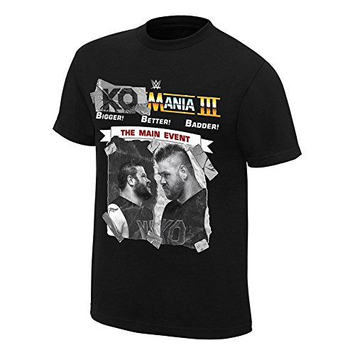 WWE Kevin Owens KO-Mania 3'' Authentic T-Shirt Black 2XL by WWE Authentic Wear