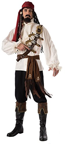 Forum Novelties Adult Men's Caribbean Pirate Skull and Cross Bones Sash Costume Accessory Caribbean Skull Bones