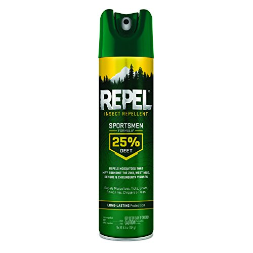 Repel Insect Repellent Sportsmen Formula 25% DEET, Aerosol, 6.5-Ounce, 12-Pack
