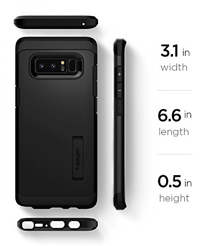 Spigen Tough Armor Galaxy Note 8 Case with Kickstand and Extreme Heavy Duty Protection and Air Cushion Technology for Galaxy Note 8 (2017) - Black