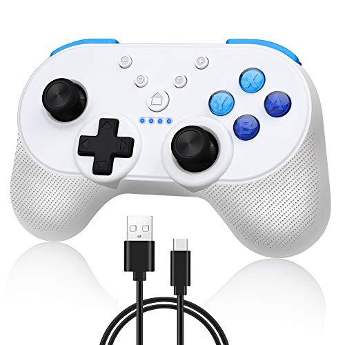 Lookdol 닌텐도 스위치 컨트롤러 닌텐도 Switch 컨트롤러 NFC 기능 Turbo 자동 연사 HD 진동 자이로 & 가속도계 가능한 블루투스 연결 무선 무선 인체 공학적 디자인 높은 내구성 버튼 PC / Android / 태블릿 지원 그립 식 게임 패드 Nintendo Switch ProController 일본어 설명서 첨부