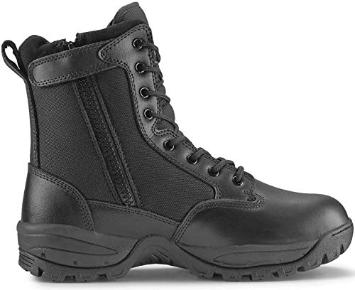 Maelstrom Men's TAC FORCE 8 Inch Military Tactical Duty Work Boot with Zipper, Black, 12 W US -