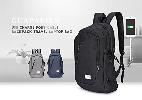 Mochila de Transporte para Ordenador Portátil, Hombre o Mujer Mochila Bolsa Bandolera/Maletin/Backpack de 15 Pulgadas Impermeable Netbook para Universidad/Negocios/Trabajo (15 inches, Negro) azul