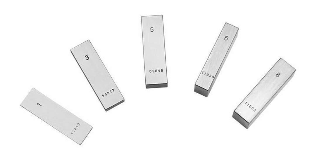 MeterTo 1pcs Steel Metric Single Gage Block 80mm Calibration Measuring Tool Gauge Block Grade 1