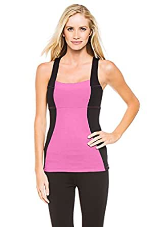 MSP by Miraclesuit Women's Color Block Tank, Raspberry Ice, X-Small