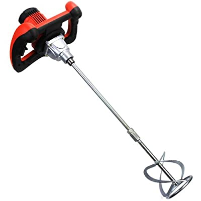 XtremepowerUS 1600W Handheld Electric Cement Mixer for Mortars Concretes Grouts Adjustable Speed