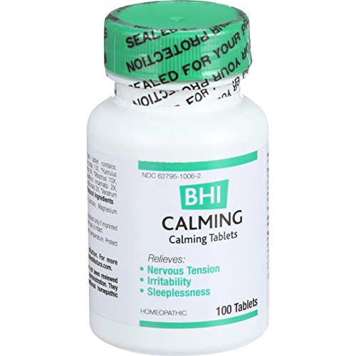Bhi Calming - Homeopathic - Relieves Nervous Tension - Sleeplessness - 100 Tablets (Pack of 4) (100 Tablets Calming)