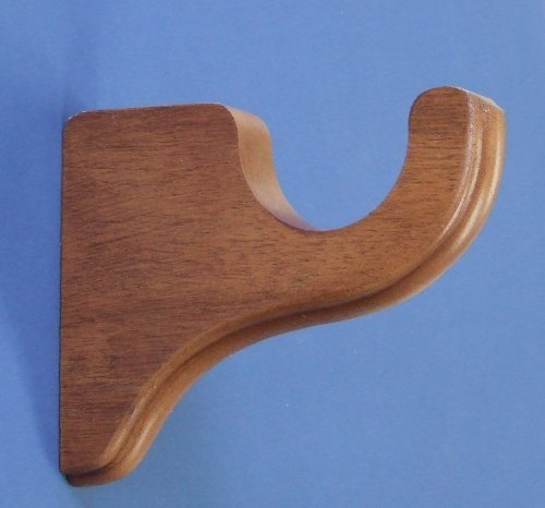Support Bracket in Estate Oak for 2 inch Drapery Rod - 1/Pack