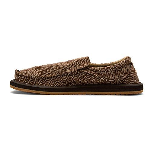 Shoe Herringbone Men's on Slip Tx Brown Chiba Sanuk XSO00