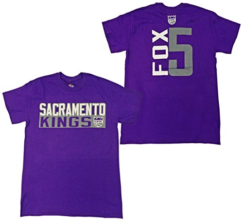 Majestic De'Aaron Fox Sacramento Kings Purple Vertical Name and Number Player T-Shirt XX-Large