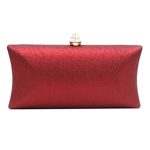 Zhuhaitf High Quality Colorful Small Bags Rhinestones Original Luxury Handbags Unique regalo caro for Ladies Red