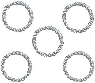 10mm Open Silver Plated Jump Rings Twist 18g. Q.50 - Silver Open Twist