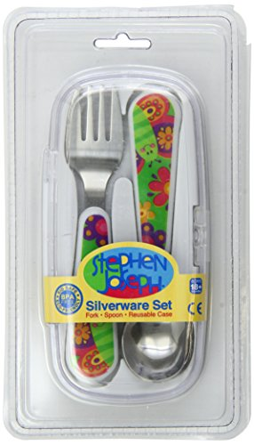 Stephen Joseph Silverware Set, Butterfly
