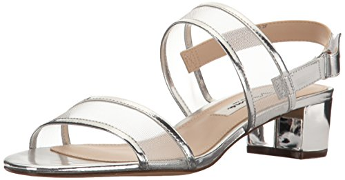NINA Women's Ganice Dress Sandal, YM-b- Silver, 7.5 M US