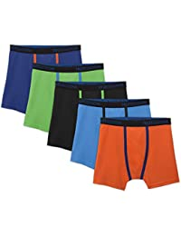 Boys 5 Pack Breathable Boxer Brief Underwear