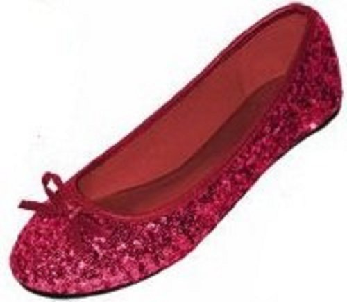 Shoes 18 Womens Sequins Ballerina Ballet Flats Shoes 4 Colors Available 9/10, 2001 Ruby Sequins Adult Ruby Red Slippers