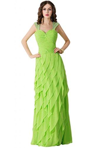 strato Light da abito da sera Gowns abiti Chiffon Sweetheart triplo per elegante Prom damigella Pageant d'onore Sunvary Green wWYHqpFaxn