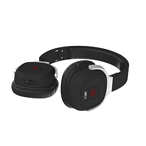 Axceed NFC Bluetooth Headphones Folding Head-mounted Bluetooth 4.1 Stereo Headset