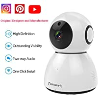 Home Security Camera 1080P Cloud WIFI IP Camera Pan/Tilt/Zoom IR-Cut Night Vision Two-way Audio Motion Detection Alarm Camera Support SD Memory Card and Amazon-AWS Cloud Storage Service