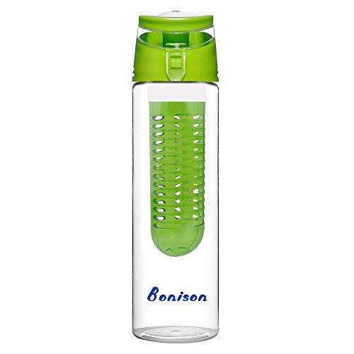 Bonison Trendy Tritan Durable Infuser Water Bottle