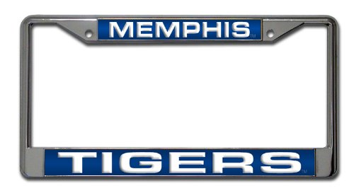 Rico Industries NCAA Memphis Tigers Standard Chrome License Plate Frame