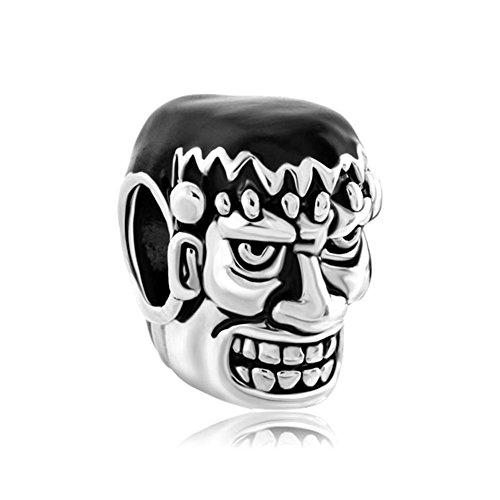 Mel Crouch Owl Magic Book Charm or Skull Charm or Halloween Ghost Pumpkin Charm Beads for Bracelets (Dr. -