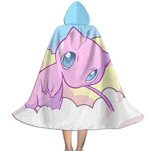 Unisex-Child Halloween Cloak Cute Mew-Two Full Length Hooded Cape Girls Boys Magic Costumes For Christmas Party Cosplay S