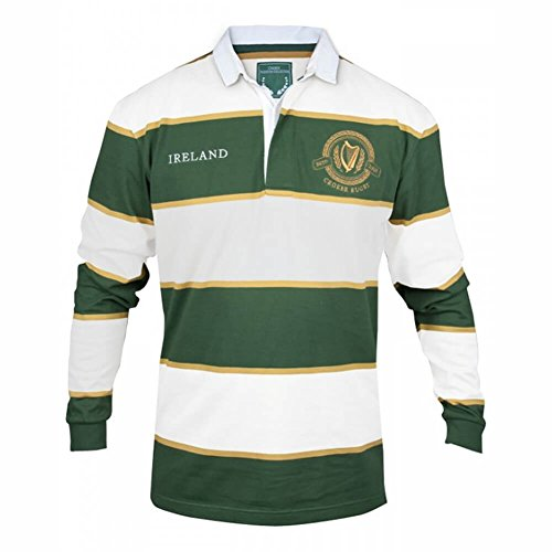 Irish Rugby Jersey - Green & White, XX-Large -