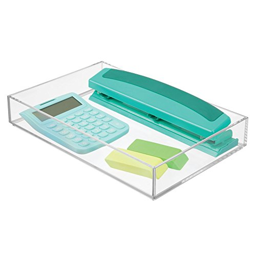 mDesign Office Supplies Desk Organizer for Scissors, Pens, Markers, Highlighters, Tape - 8
