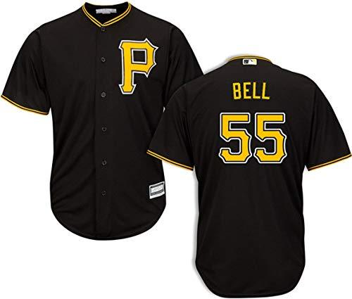 (Men's #55 Josh Bell Pittsburgh Pirates Alternate Black Jersey XXL)