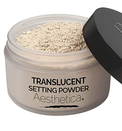 Aesthetica Translucent Setting Powder - Matte Finishing Makeup Loose Setting Powder - Flash Friendly Translucent Powder Foundation - Loose Face Powder Includes Velour Puff (Makeup Forever Ultra Hd Invisible Cover Foundation Ingredients)