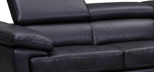 Valencia Midnight Black Leather Corner Sofa Right Hand Facing:  Amazon.co.uk: Kitchen U0026 Home
