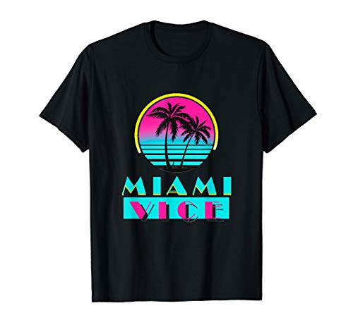 Miami Florida Cityscape Retro Graphic T-Shirt for Men or Women